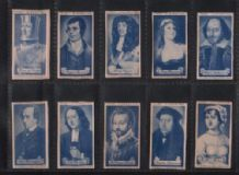 Tobacco cards, Cigarette cards Celebrities of British History